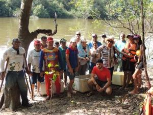 Em Araguacema, o manejo realizado para reprodução da espécie é desenvolvido por representantes da colônia de pescadores e ribeirinhos_Crédito Aline Vilarinho