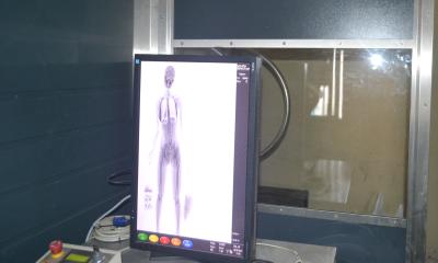 Os produtos foram percebidos por meio do uso de scanners corporais no momento da revista