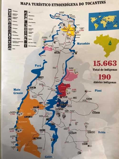 Mapa das comunidades indígenas