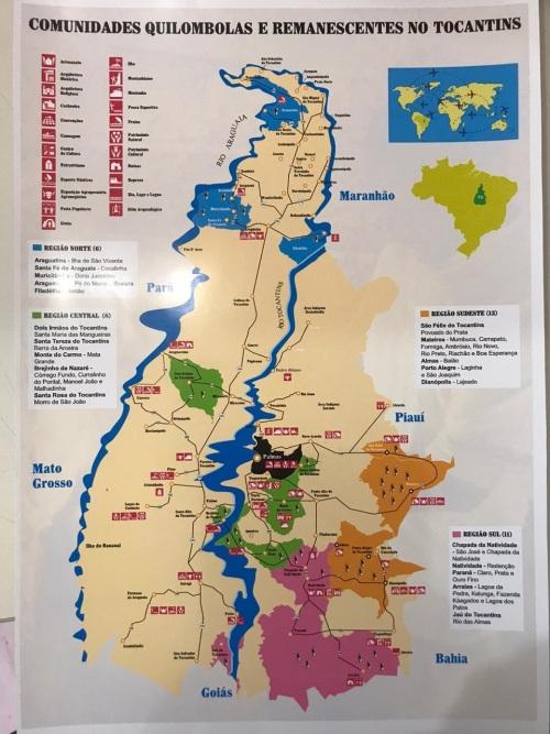 Mapa das comunidades quilombolas