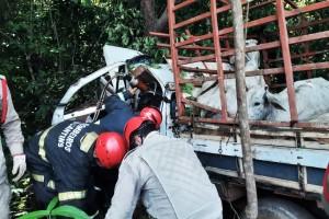 Bombeiros militares atenderam chamada, levando socorro às vítimas