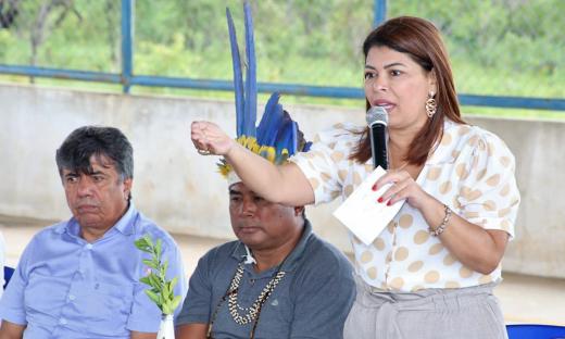 Adriana Aguiar destacou o que a implantação do Programa em uma unidade de ensino indígena é uma experiência inovadora que servirá de referência