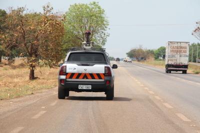 Veículo percorreu todas as rodovias estaduais pavimentadas.