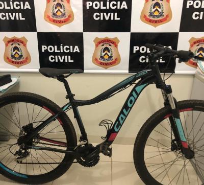 Bicicleta furtada e recuperada pela Polícia Civil em Pium