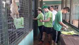 Organização americana visita recintos dos animais que estão alojados no Cefau