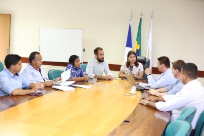Participaram da reunião representantes da Seduc e da empresa MAN Latin America