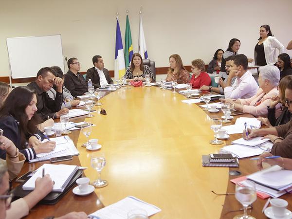 Diretores Regionais de Educação são recebidos em Palmas pela titular da Seduc, Adriana Aguiar