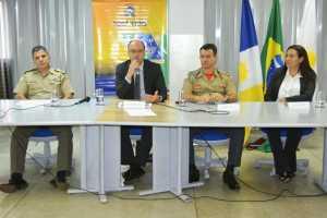 Divulgação das ações reuniu principais Forças de Segurança do estado
