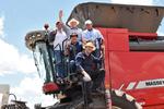 Mauro Carlesse abriu oficialmente a colheita da safra de grãos 2019/2020 no Tocantins, em evento na fazenda Uruçu, no município de Pedro Afonso