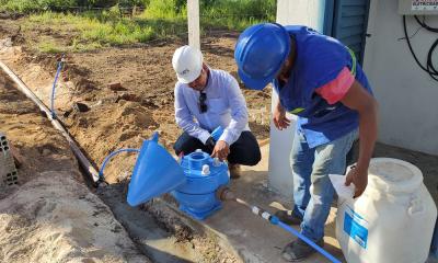 Técnicos da ATS instalam sistema de tratamento de água em Lajeado