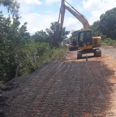 Erosão foi corrigida pelas equipes da Residência Rodoviária de Araguaína