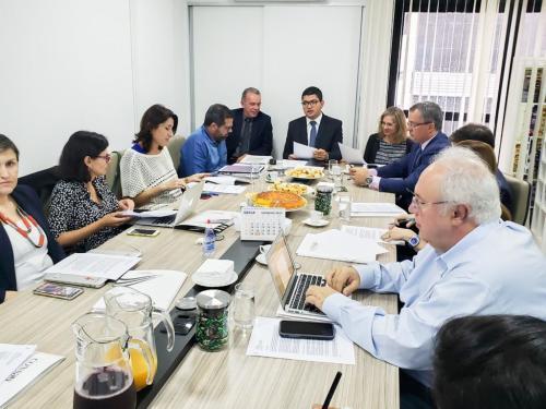 O secretário e vice-presidente do Consad, Edson Cabral participou da reunião -