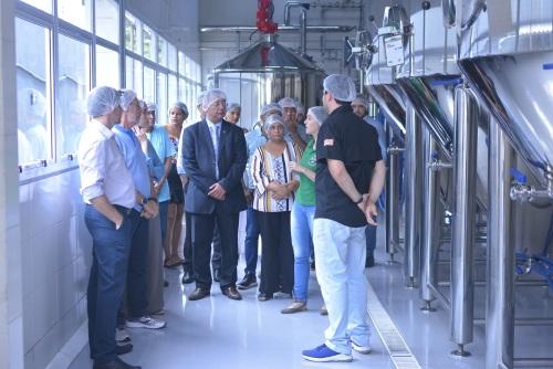 Primeiro roteiro teste incluiu visita a todas as áreas de produção da Jalapa