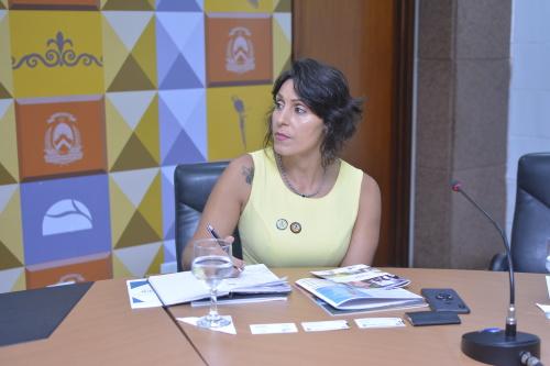 Líder do GRI Group, Melissa, conhece os projetos em desenvolvimento no Estado