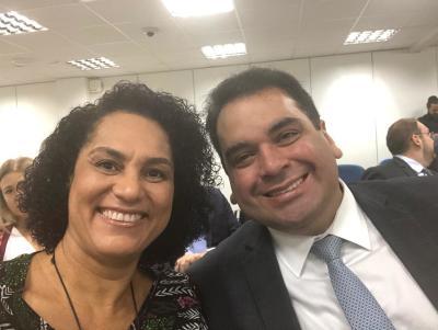 Os procuradores do Estado Elyane Monteiro e Frederico Abinader