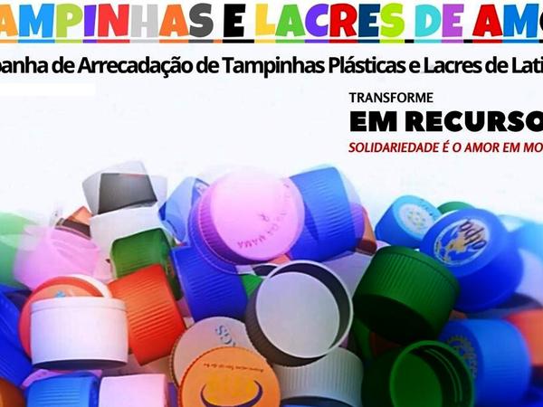 Ação visa arrecadar tampinhas plásticas e lacres de metal para doação para o Hospital de Amor do Tocantins