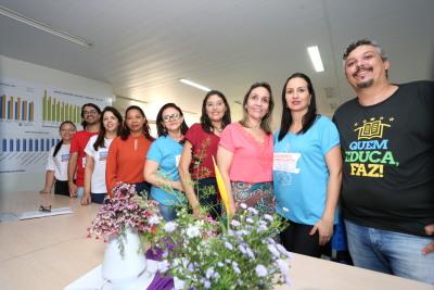 Equipe formadora da DRE em formação para coordenadores pedagógicos
