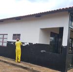 Reeducandos da unidade realizaram revitalização de pintura da 53ª Delegacia da Polícia Civil de Araguacema