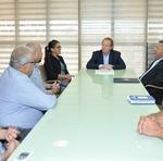 Executivos estavam acompanhados do secretário da Secretaria da Indústria, Comércio e Serviços, Tom Lira, e da prefeita de Colméia, Elzivam Noronha