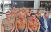 Coronel Farias (E) participou de encontro de comandantes gerais em Brasília