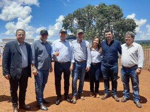 Ao lado do governador Mauro Carlesse, o presidente do Ruraltins, Thiago Dourado, prestigiou o evento