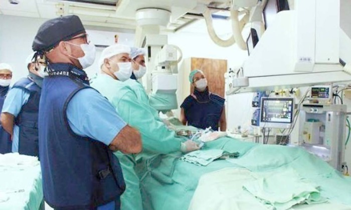 Procedimentos foi realizado em um bebê de 16 dias