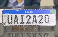 Exemplo de Placa Mercosul