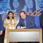 Governador assinou ainda decretos de reconhecimento e renovação dos cursos Engenharia Agronômica, Direito, Sistemas de Informação e Licenciatura em Letras