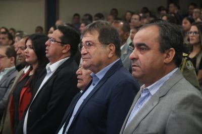 Gestores da Seagro durante solenidade no Palácio Araguaia