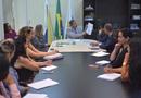 Secretário e corpo técnico em reunião com  a equipe da Seplan