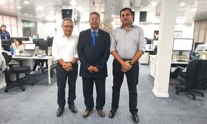 Tom Lyra e diretores da Energisa, durante reunião para tratar sobre demandas relacionadas à distribuição de energia no Jalapão