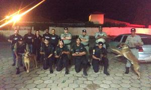 Ação aconteceu na divisa da região sudeste e contou com 15 policiais e cães farejadores