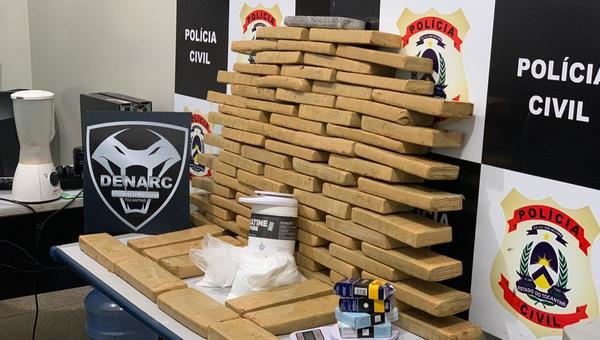Mais de 70 quilos de maconha foram encontrados pela Polícia
