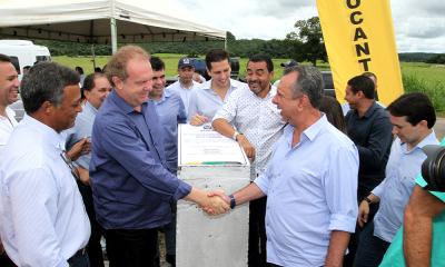 Governador percorreu e inaugurou a reconstrução dos trechos da rodovia TO-110 entre Aurora e Lavandeira
