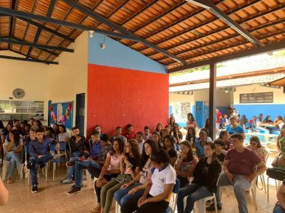 O ciclo de palestras promovido pela Seciju contou com a participação de cerca de 850 estudantes de três escolas estaduais.