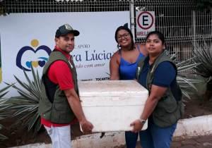 Pescado doado para a Casa de Apoio Vera Lúcia