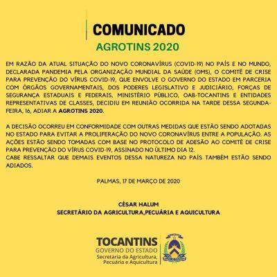 Adiada a Agrotins 2020