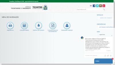 O endereço para o atendimento da Agência Virtual é o https://agenciavirtual.ats.to.gov.br/