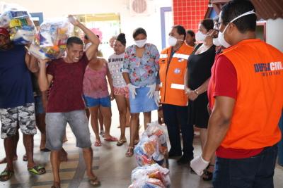 186 cestas foram entregues somente em Araguanã