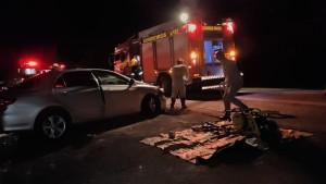 Corolla envolvido na colisão com uma camionete teve o condutor em óbito