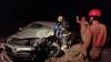 Colisão terminou na morte de um dos condutores, que ficou preso  às ferragens