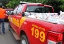 Mais de 600 famílias atingidas pelas inundações  já foram beneficiadas pelas entregas de cestas básicas