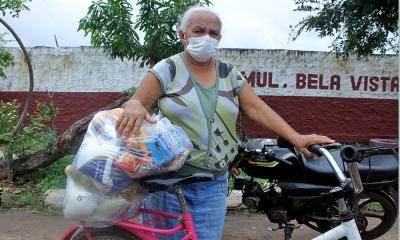 Dona Maria Luciana de Moraes, de 66 anos, foi uma das atingidas pela inundação e ficou muito emocionado ao falar do ocorrido