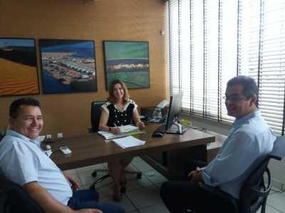 Reunião  na Agência de Fomento do Estado do Tocantins