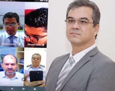 Presidente do Detran-TO, Cláudio Alex Vieira, participou de videoconferência nacional