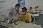 Interno J. F. está animado em aprender um novo ofício e contribuir com o combate do coronavírus