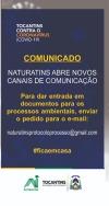 O Naturatins comunica aos usuários.