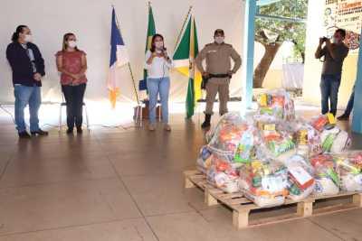A titular da Seduc, Adriana Aguiar, destacou a importância de seguir todas as orientações do Ministério da Saúde e da OMS na distribuição dos kits
