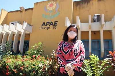 A presidente da Escola Especial São Francisco de Assis – Apae, Vanda Paes França, destacou o perfil dos estudantes atendidos