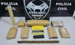 Drogas e munições apreendidas pela Polícia Civil em Palmas